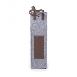 Laserable wine tote flannel color: Bay Brown